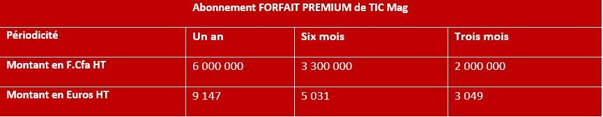 PUB Forfaits TIC Mag Premium