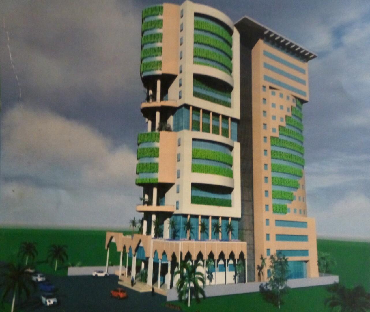 Cameroun le chantier de l immeuble de l art au design d for Design hotel douala