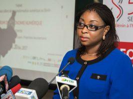 Aurélie Adam Soulé Zoumarou, la ministre de l'Economie numérique et de la Communication, au SENUM 2017 | Photo : PRÉSIDENCE DU BÉNIN