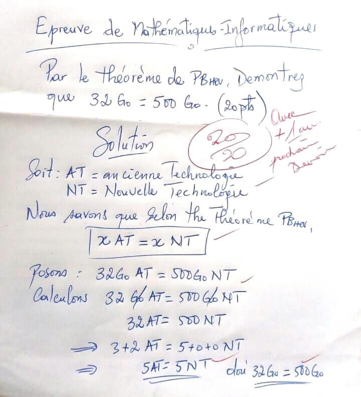 Cameroun : Affaire des #ordinateurs PB-HEV32gigas=500gigas : Le Pr Atsa Etoundi persiste dans l'irrationnel !