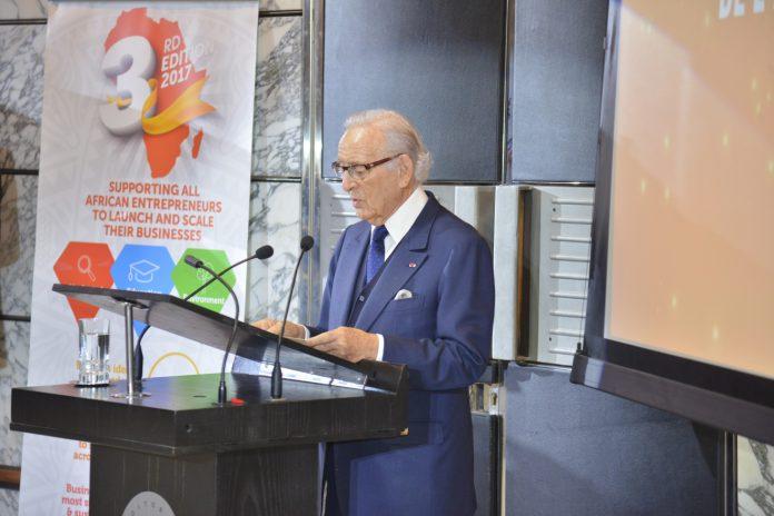Othman Benjelloun à l'dition 2017 de l'African Entrpreneurship Award qui s'est tenue le lundi 11 décembre 2017, au siège de BMCE Bank of Africa à Casablanca   Photo : le1.ma